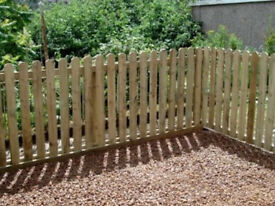 Picket Fence Pales Pointed Pales Round Top Picket Fence Panels 3ft 900mm 4ft 1200mm 1.2m Treated