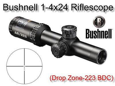 Bushnell 1-4x24 Optics Scope BDC Drop Zone Reticle Riflescope 5.56 .223 5.56x45