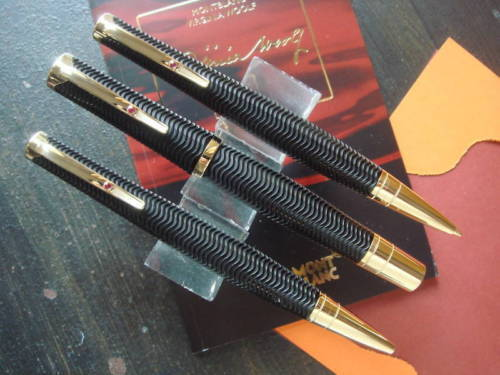 Montblanc Limited Edition Woolf 3 Pen Set New In Box