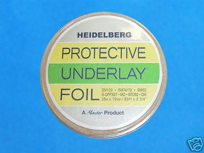 Underlay Protective Foils Heidelberg Printing Machine Supplies