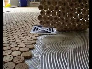bodenbelag begehbare dusche 6mm massiv kork fliesen boden wand bad mosaik 30x30 ebay. Black Bedroom Furniture Sets. Home Design Ideas