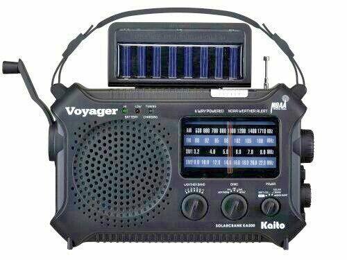 Kaito KA500 AM FM Shortwave Dynamo Solar Crank Emergency Weather Alert Radio
