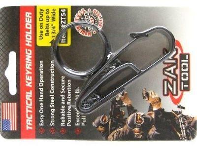 Zak Tool Tactical Black Key Ring Belt Holder W Clip For 1.75 Wide Belt Zt-54