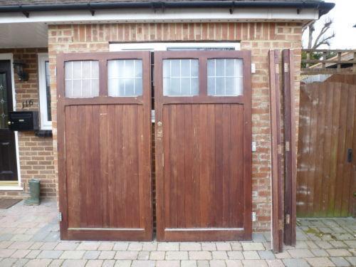 Used Wooden Garage Doors Ebay