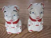 Vintage White Salt and Pepper Shakers