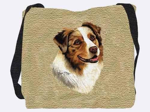Woven Tote Bag - Australian Shepherd 1183 IN STOCK