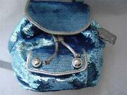 Blue Sequin Coach Purse
