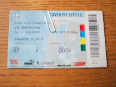 02/02/2008 Ticket: Coventry City v Barnsley  (Slight Cr