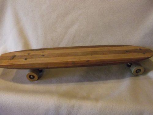 Vintage Wooden Skateboard | eBay