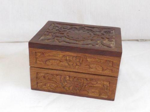 small wooden jewelry box ebay. Black Bedroom Furniture Sets. Home Design Ideas