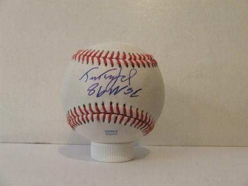 Tim Teufel Signed Autographed Baseball - W/COA MLB NY Mets Twins 1986 WSC - $38.99
