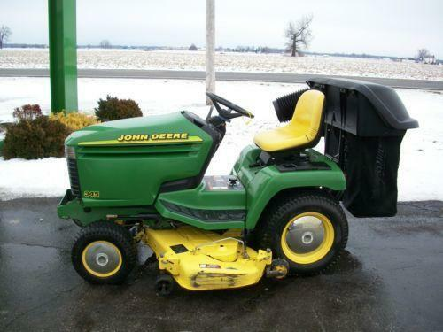 Used john deere lawn tractors ebay for Used lawn and garden equipment