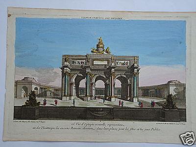 Rom Roma Italia Theatre des Romain  Kupferstich 1750