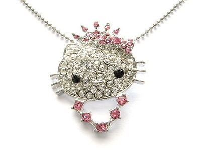 Chain and Pendant Hello Kitty with Tiara Princess