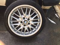 """OEM BMW E46 3 SERIES MV1 ALLOY 8J X 18"""" ALLOY WHEEL LA WHEEL V SPOKE 72 2229145"""