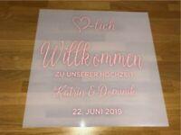 Hochzeitsdeko - Acryl - Willkommensschild - individualisiert München - Schwabing-West Vorschau