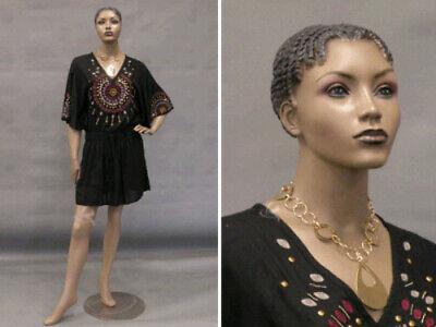 Pretty Black Female Fiberglass Mannequin Dress Form Display Md-alice