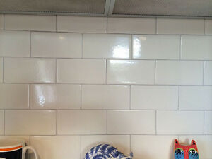 "4""x12"" Offwhite tiles.  $1 each"