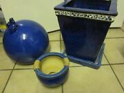 Pflanzkübel Blau