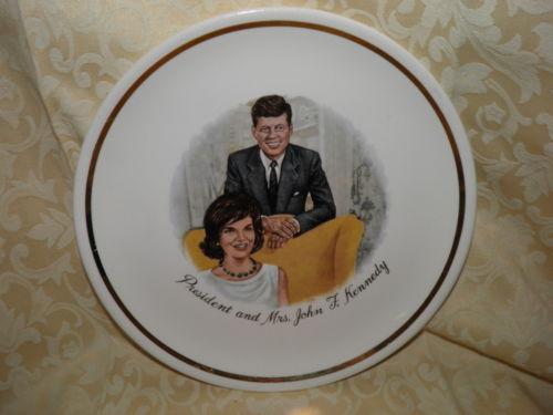 My Plates Texas >> President and Mrs John F Kennedy Plate | eBay