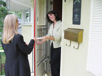 Door to door sales.