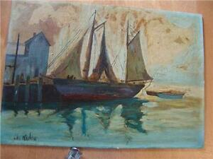 OIL ON BOARD OIL PAINTING SIGNED CHI KILIN?