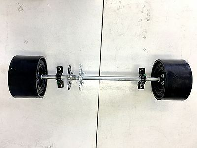 25mm 850mm Axle HuFFy Slider Drift Trike GoKart Project Wheels Sleeves 10x4.5-5