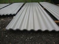 brand new 14ft long grey polyester coated box profile roofing sheets