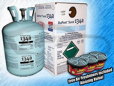 DUPONT SUVA R134A REFRIGERANT 30LB CAN - FREE AIR FRESHENERS INCLUDED - AMAZING!