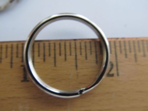 KEY RINGS - ROUND METAL SPLIT STYLE - CHROME Or GOLD Mixed LOTS . Qty 25 New - $9.99