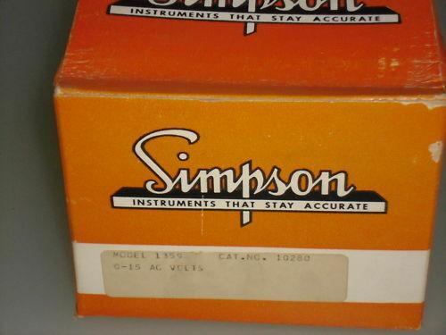 SIMPSON 1359 PANEL METER 10280 *NEW*