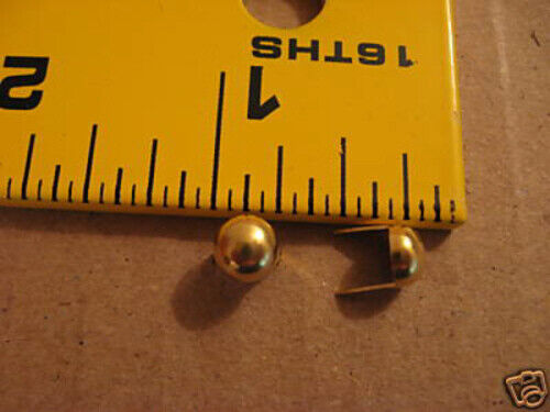 """1/4"""" Solid Brass Round Spots / Studs For Leather (Pack Of 250)"""