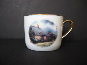 Thomas Kinkade Cup - Moonlight Cottage - NEW - $10.00