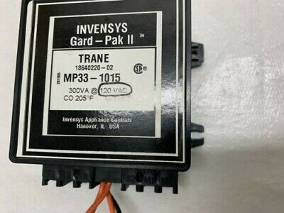 Invensys Gard-pak11 Mp33-1015 Motor Protector 120v Make 174 Break 205 5060hz