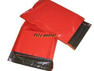 -OFFER-  5000 RED Plastic poly postal post Mailing Bags 250 x 350 10 x 14 10x14