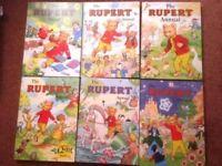 39 x Vintage Rupert Bear Annuals, all listed, all photos & all clean