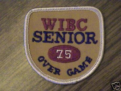 WIBC SENIOR 75 OVER GAME AWARD BOWLING PATCH EMBLEM