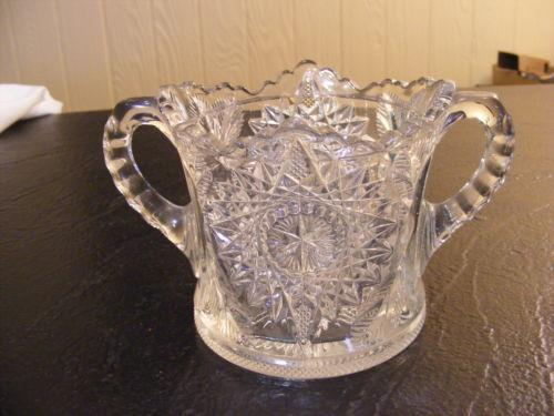 Pressed glass sugar bowl ebay
