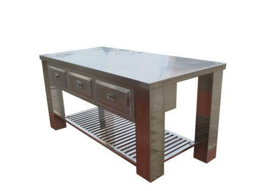 stainless steel kitchen island on wheels kitchen island cart stainless steel ebay 27553