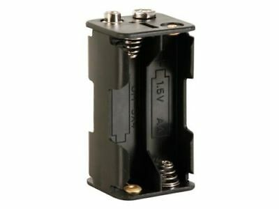 BATTERY HOLDER FOR 4 x AA-CELL (WITH 9 VOLT SNAP TERMINALS)