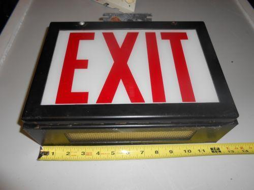 Glass Exit Sign Ebay