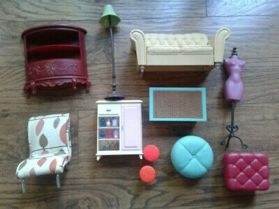 Barbie Doll House Living Room Furniture Accessories 11 Piece Lot