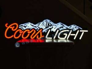 Coors Light Beer Sign.