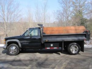 1996 k3500 4x4 plow and dump included