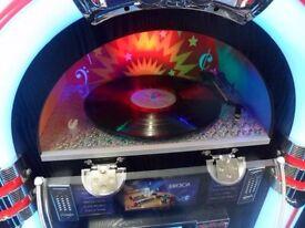 Jukebox CD Radio Turntable Vinyl Bluetooth Retro Floor Standing Colour Changing