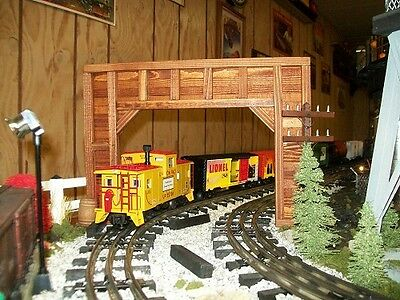 Model Railroad O Gauge DOUBLE TRACK Timber Framed Train TUNNEL PORTALS -SET OF 2 for sale  Knox