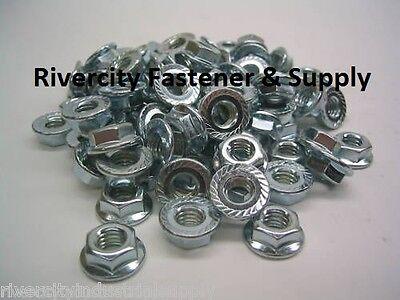 300 38-16 Serrated Hex Flange Nuts Flange Locknuts Or Spin Wiz Nuts Zinc