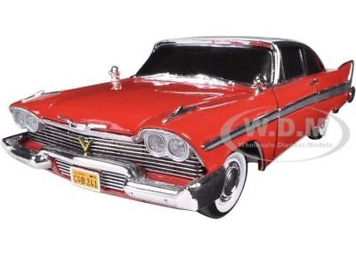 1958 PLYMOUTH FURY CHRISTINE NIGHT VERSION RED 1/18 BY AUTOWORLD AWSS102