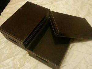 Faux Leather Storage Boxes