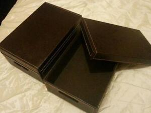 Faux Leather Storage Boxes & Faux Leather Storage | eBay